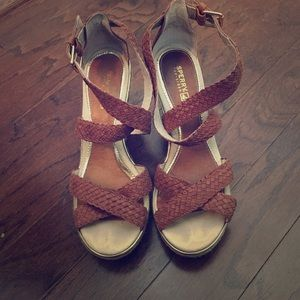 Sperry wedge sandals size 8.5